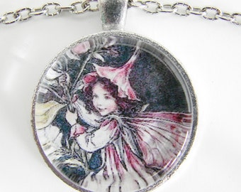 FLOWER FAIRY Necklace, Ephemeral fairy among the flowers, Delicate and magical, Friendship token