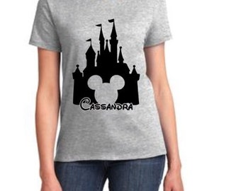 Personalized Disney Land T-Shirt (Ladies)