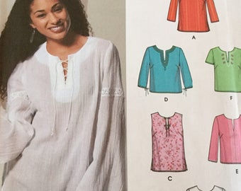 Simplicity 5684 Pullover Tunic with Sleeve Variations, Top, Size 8-14, Uncut
