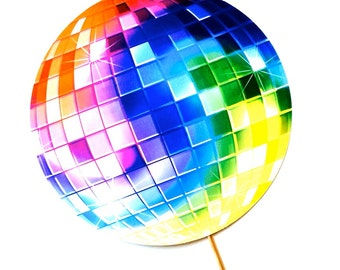 """Disco Ball Photo Booth Prop - LARGE 10.5"""" prop - Birthdays, Weddings, Parties - Photobooth Props"""