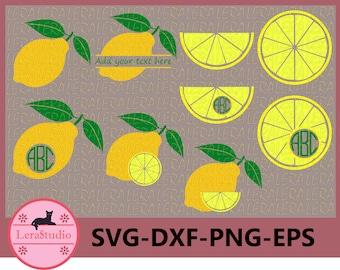 60 % OFF, Lemon SVG, Lemon Monogram Frames Svg, Lemon svg, png, eps, dxf, Circle Frames,Silhouette,Cricut Cut files,ClipArt Instant Download