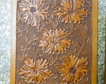 Custom Handtooled Leather Clipboard