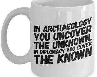Archaeology Coffee Mug | Gift For Archaeologist | Prehistorian | Paleontologist - American Made - White - Cup - 11oz 15oz