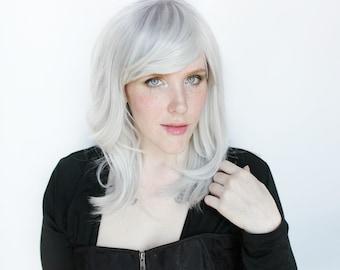 Gray wig | Silver wig, Light Grey wig | Wavy wig, Wavy Gray wig | Gray Silver wig, Cosplay wig, Grey Cosplay wig | Stormcloud