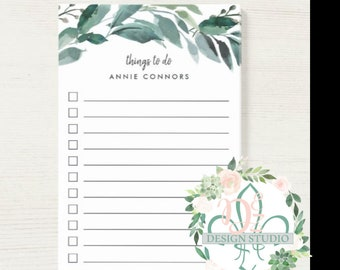 WATERCOLOR PERSONALIZED NOTEPAD 5x7 customizable