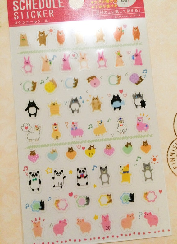 Clear mini animal stickers for life planner scrapbook small crafts from pasokuma on etsy studio