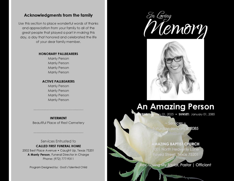 Ziemlich Funeral Programm Vorlage Download Galerie - Bilder für das ...