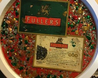 """Re-Done It 12 1/2"""" Fuller's Beer Tray"""
