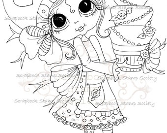 INSTANT DOWNLOAD Digital Digi Stamps Big Eye Big Head Dolls My Besties Digi IMG785 By Sherri Baldy