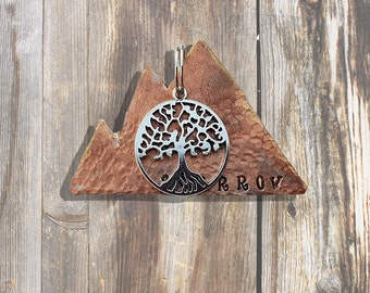 Mountainscape Tree of Life - Pet ID Tag