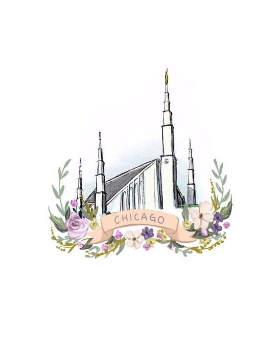 Templo Sud de Chicago Santos de los últimos días mormones