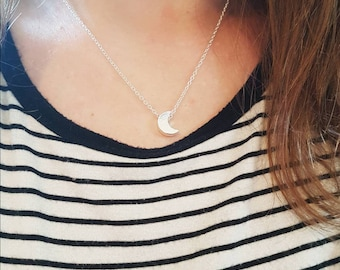 Necklace with moon