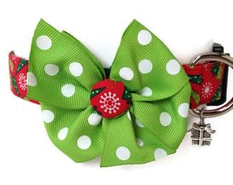 Christmas Trees Holiday Dog Collar size Medium