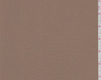 Dark Suntan Polyester Crepe, Fabric By The Yard