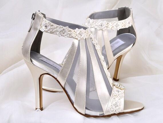 Wedding Shoes Vintage Wedding Lace 3.5 Heels