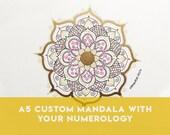 A5 Custom Healing Mandala...