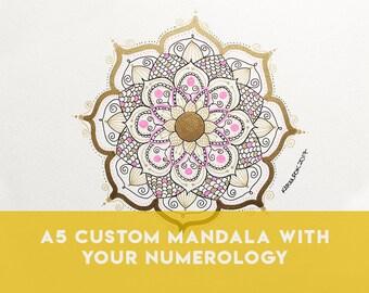 A5 Custom Healing Mandala Vibrational Artwork