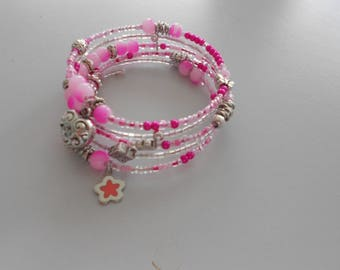 Spring strap, 5 rows of neon pink