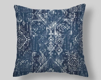 """Blue Pillow Covers  Navy  Blue Pillow Covers Decorative Pillows 18 """"   Accent Pillows Throw Pillows Decorative Pillows Home"""