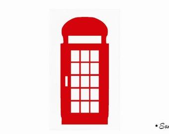 Cabine Telephone Anglaise Flex Rouge