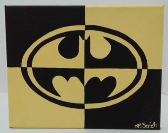 Batman logo painting