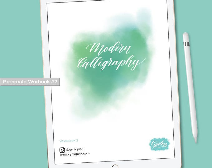 Featured listing image: Modern Calligraphy workbook #2