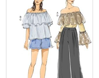 Vogue Pattern V9257 Misses' Tops, Shorts and Pants