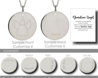 Guardian Angel Necklace Inspirational Gift Coin Necklace Personalized Gift Communion Gift Memorial Necklace Grief Gift Sympathy Gift for Her