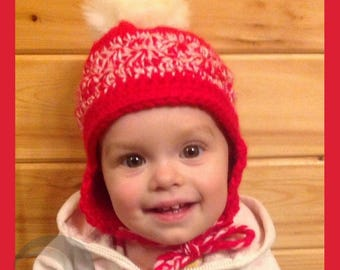 Baby/ Toddler/ Child hat with earflaps