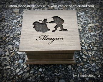Tale as old as time music box, music box, princess music box, princess gift, Beauty and the Beast, Belle, personalized music box, Christmas