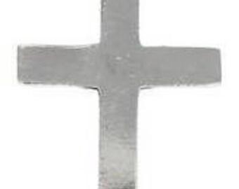 Pewter Cross Christian Shiny Silver Pendant (316)