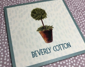 Personalized Calling Card ·· Enclosure Card ·· Gift Card ·· Women ·· Topiary ·· Stationery