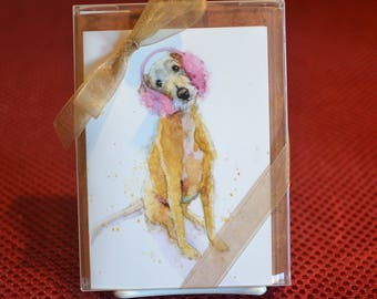 Gift Box of 8 Dog-In-Hat Notecards