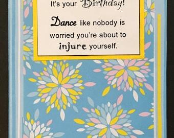 Birthday Dance card
