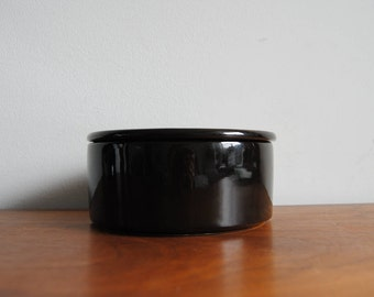 Arabia Finland Kilta Lidded Jar 1960s Dark Brown Kaj Franck Design
