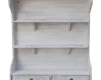 for white patina Spice jar kitchen shelf