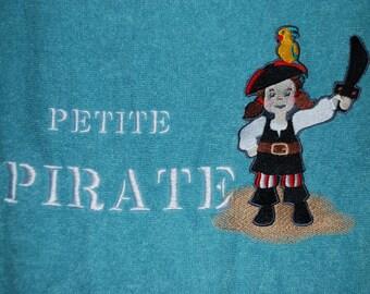 """A shower"" towel little Pirate"