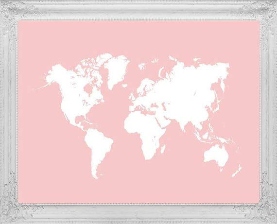 Millennial pink world map travel map pink world map map of millennial pink world map travel map pink world map map of the world trending now millennial pink world map poster apartment decor gumiabroncs Image collections