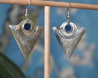 vintage jewelry 90's earrings geometric earrings