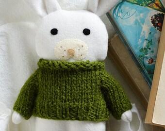 Fern soft toy, bunny, stuffed toy animal, soft toy, white bunny rabbit, gift for baby, babyshower, nursery decor, bunny doll, Christmas gift