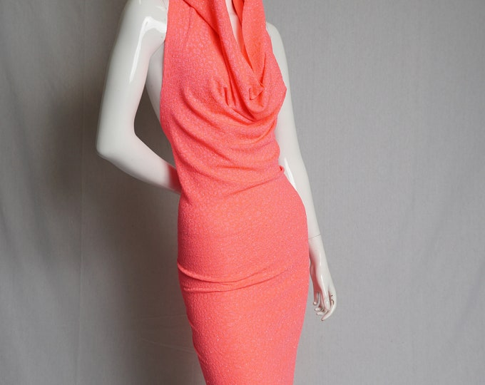 Featured listing image: Hot Sparkle Coral Hooded Dress - festival, party, comfort