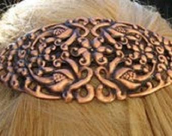 Copper Hair Barrette #4045C