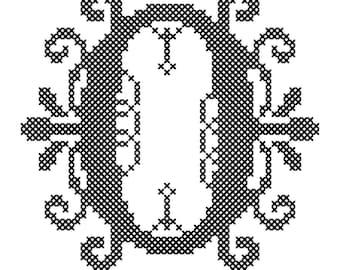Monogram Cross Stitch Patterns/Cross Stitch Letter Pattern/Cross Stitch Initial Pattern/Modern Monogram Cross Stitch Chart/Digital Download