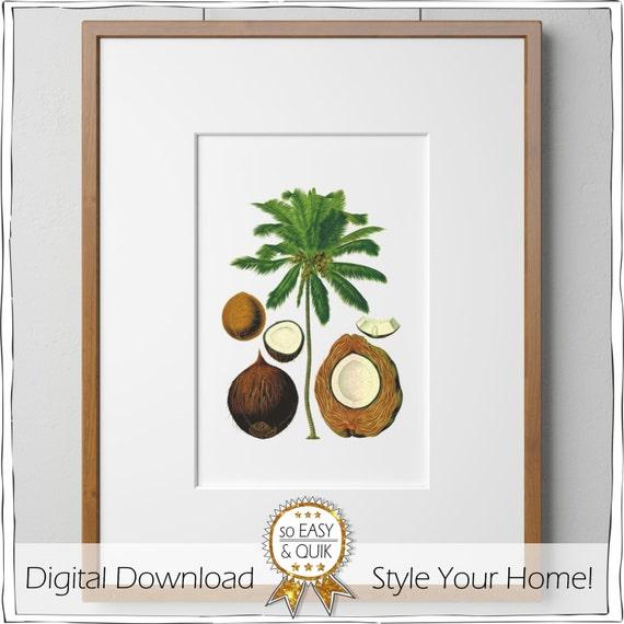 Art Posters, Vintage Palmtree