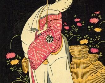 """Buncho Ippitsusai : """"Segawa Kikunojo"""" - Giclee Fine Art Print"""