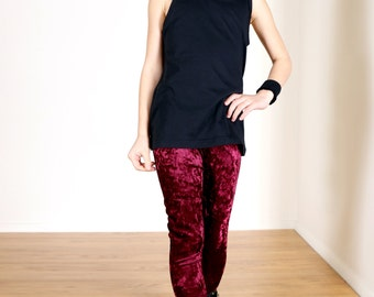 Girls/Kids Crushed Velvet Leggings for Riot Grrrls, Little Punks & Goth Kids