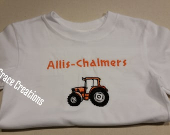 Embroidered Tractor Shirt