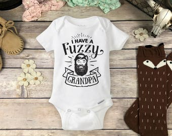 Fuzzy Uncle Beard Onesies Brand Or Carter S Bodysuit