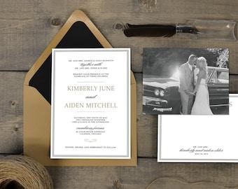 Rustic, natural wedding invitations - Willow.