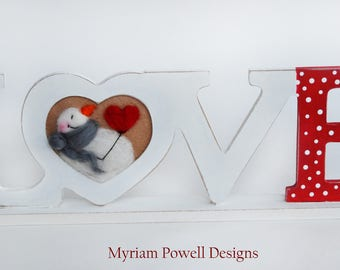 Love Sign - Wooden Sign - Christmas Decor - Snowman Sign - Ready to Ship